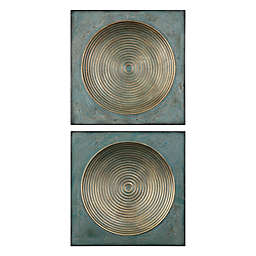 Uttermost Sybil Antique Gold 20-Inch Square Wall Décor (Set of 2)
