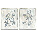 Sky Floral 11-Inch x 14-Inch Canvas Wall Art (Set of 2)