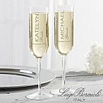 Luigi Bormioli® Modern Wedding Champagne Flute Set