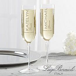 Luigi Bormioli Sublime SON.hyx® Wedding Personalized Modern Champagne Flutes (Set of 2)