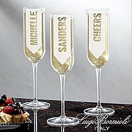 Luigi Bormioli Sublime SON.hyx® Write Your Own Personalized Modern Champagne Flute