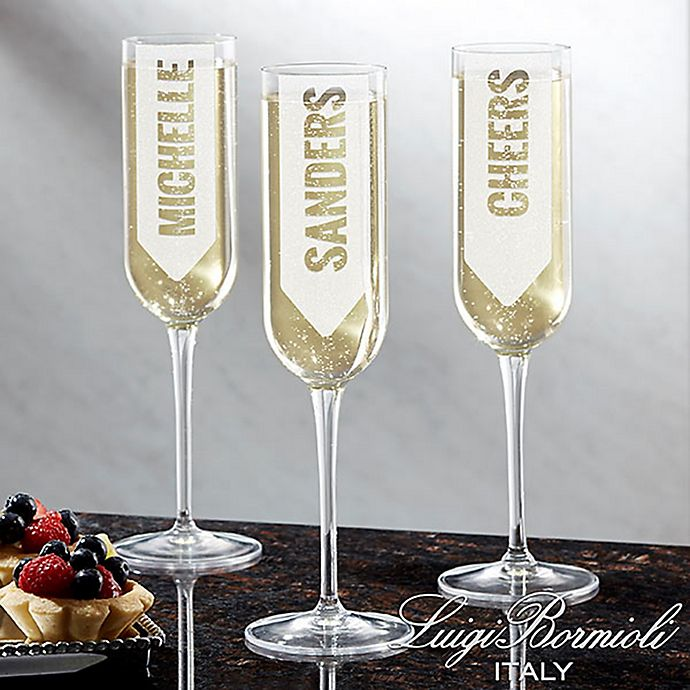 Alternate image 1 for Luigi Bormioli Sublime SON.hyx® Write Your Own Personalized Modern Champagne Flute