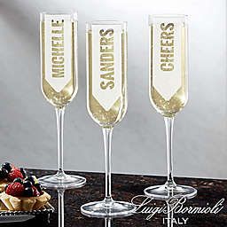 Luigi Bormioli Sublime SON.hyx® Write Your Own Personalized Modern Champagne Flute