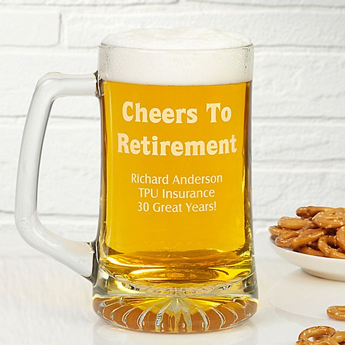 Alternate image 1 for Cheers To Retirement 25 oz. Engraved Beer Mug