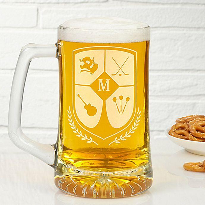 Alternate image 1 for My Crest 25 oz. Initial Beer Mug
