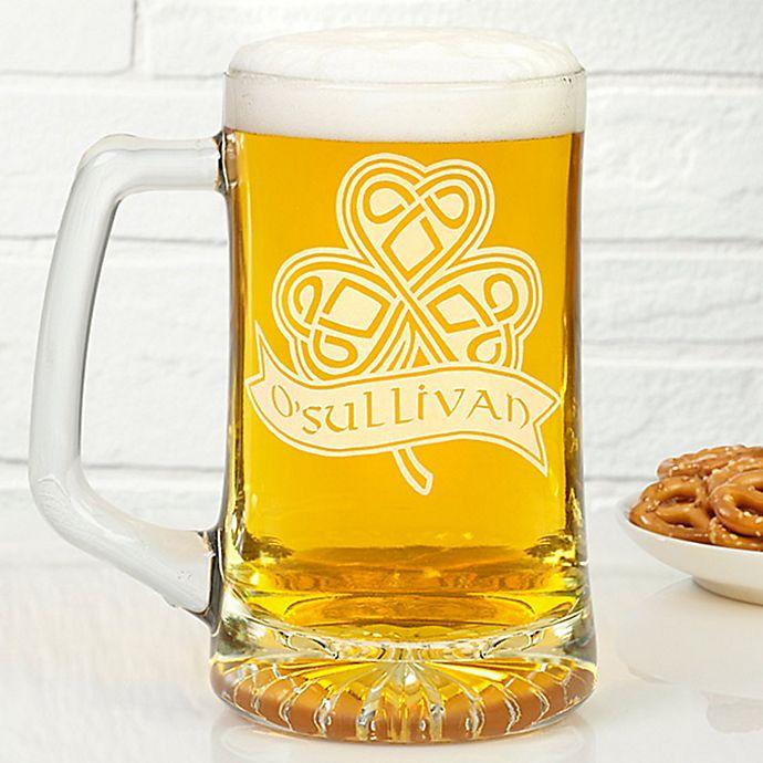 Alternate image 1 for Celtic 25 oz. Shamrock Deep Etch Beer Mug