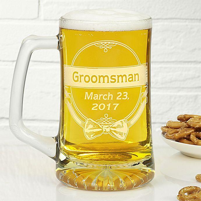 Alternate image 1 for Cheers to the Groomsman 25 oz. Beer Mug
