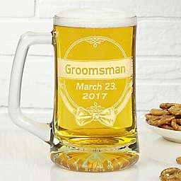 Cheers to the Groomsman 25 oz. Beer Mug