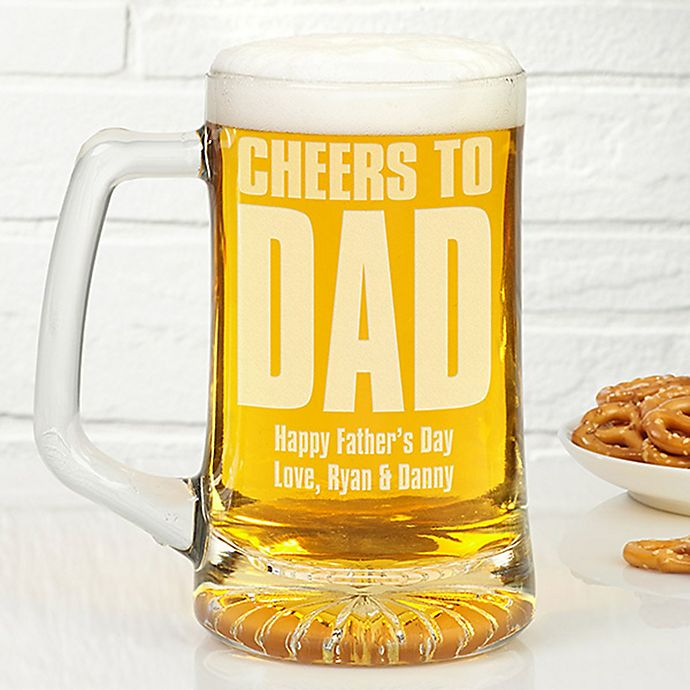 Alternate image 1 for Cheers! To Him 25 oz. Beer Glass