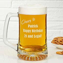 Happy Birthday 25 oz. Engraved Beer Mug