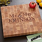 The Wedding Couple Butcher Block Cutting Board