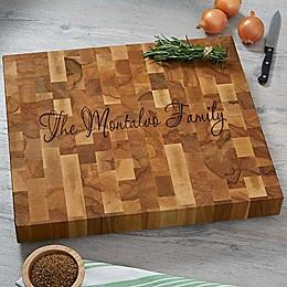 Classic Butcher Block Name Cutting Board