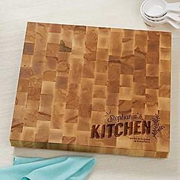 Her Kitchen Butcher Block Cutting Board