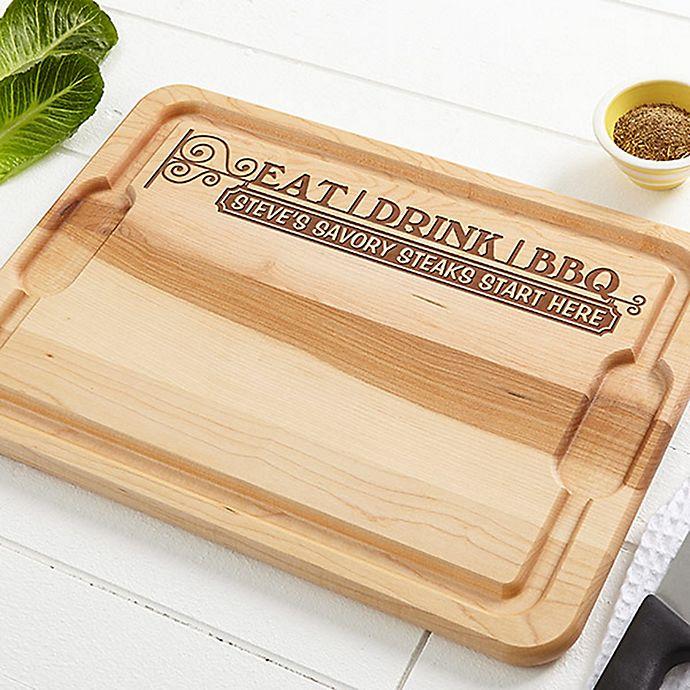 Alternate image 1 for Eat, Drink & BBQ XL 15-Inch x 21-Inch Cutting Board