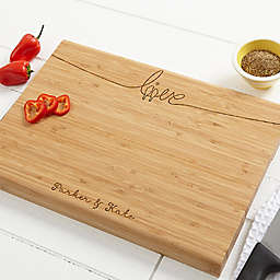 Lovebirds 10-Inch x 14-Inch Bamboo Cutting Board