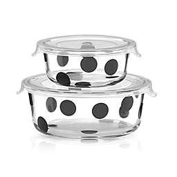 kate spade new york All in Good Taste™ Deco Dot 2-Piece Round Food Storage Set