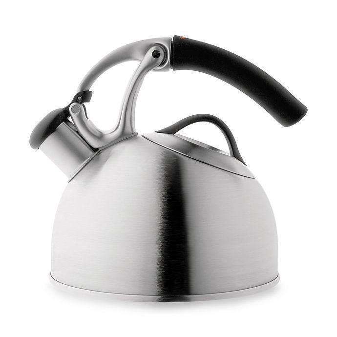 Alternate image 1 for OXO Good Grips® Uplift™ Brushed Stainless Steel Tea Kettle