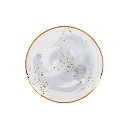 Olivia & Oliver™ Harper Splatter Organic Shape Gold Accent Salad Plate in Grey
