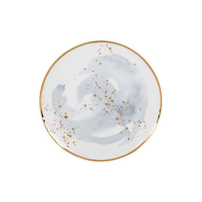 Alternate image 1 for Olivia & Oliver™ Harper Splatter Organic Shape Gold Accent Salad Plate in Grey