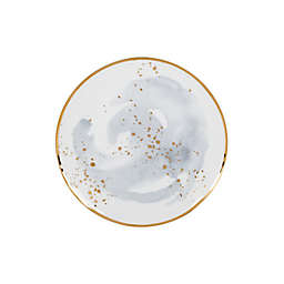 Olivia & Oliver™ Harper Splatter Organic Shape Gold Accent Salad Plate in Grey