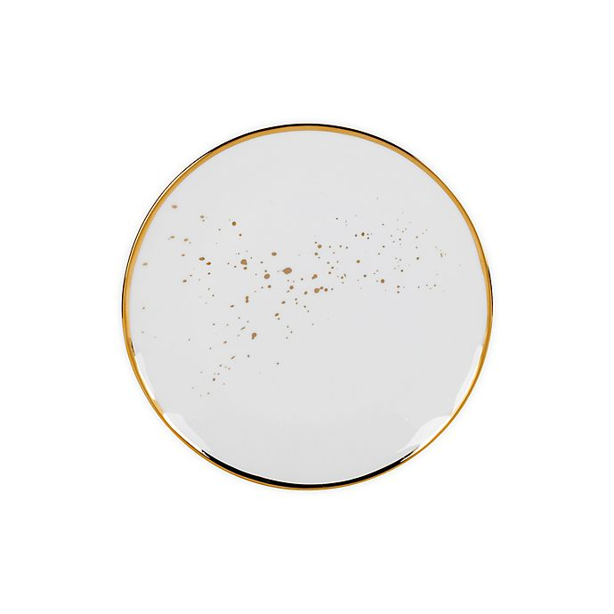 Alternate image 1 for Olivia & Oliver™ Harper Splatter Organic Shape Gold Accent Salad Plate