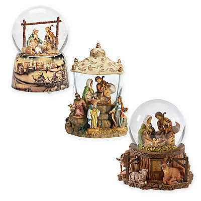 Fontanini Wind-Up Musical Holy Family Glitterdome Figurine Collection