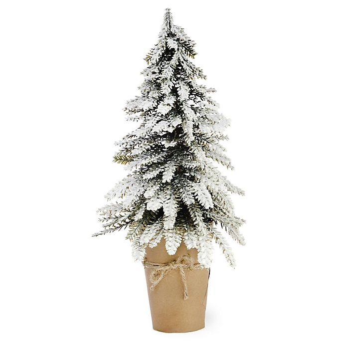 Boston Christmas Tree Delivery: Boston International Snowy Potted Pine Tree In Green/White