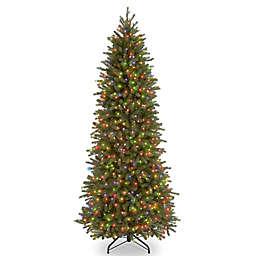 National Tree Company 7-1/2-Ft Pre-Lit Jersey Fraser Fir Pencil Slim Christmas Tree