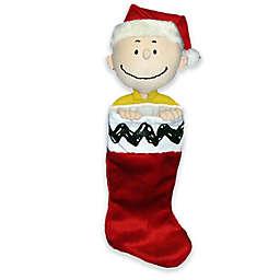 Kurt Adler 21-Inch Charlie Brown Plush Head Stocking in Red