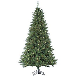 Fraser Hill Farm Canyon Pine LED Pre-Lit Artifical Christmas Tree with Clear Lights