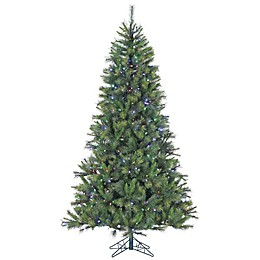 Fraser Hill Farm Canyon Pine Pre-Lit Artificial Christmas Tree with Multi-Colored Lights