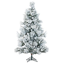 Fraser Hill Farm Snowy Pine Artificial Christmas Tree in White