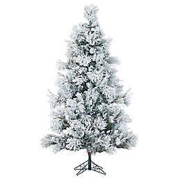 Fraser Hill Farm 12-Foot Snowy Pine Artificial Christmas Tree in White