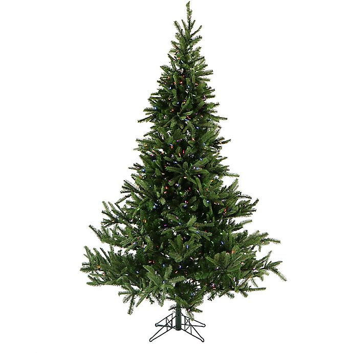 Fraser Hill Farm Foxtail Pine Pre Lit Artificial Christmas Tree With Led Multi Color Lights Bed Bath Beyond