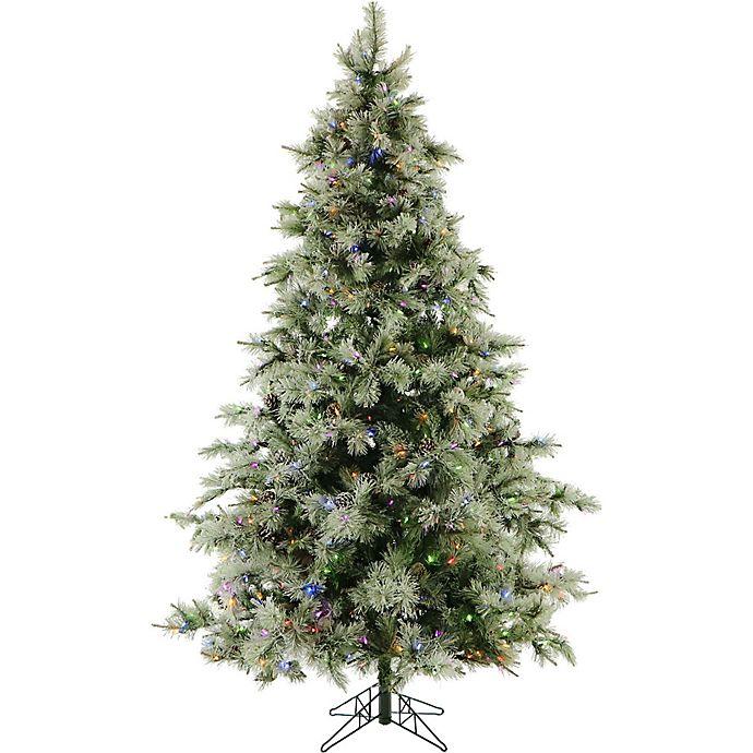 Multi Color Pre Lit Christmas Trees: Fraser Hill Farm Glistening Pine Pre-Lit Artificial