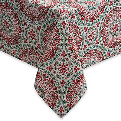 Christmas Folk Tablecloth