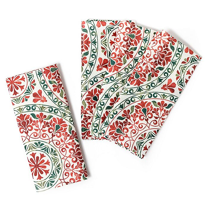 Alternate image 1 for Christmas Folk Napkins (Set of 4)