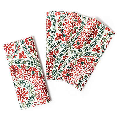 Christmas Folk Napkins (Set of 4)