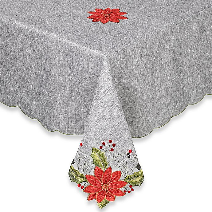Alternate image 1 for Joyful Christmas 52-Inch Square Tablecloth