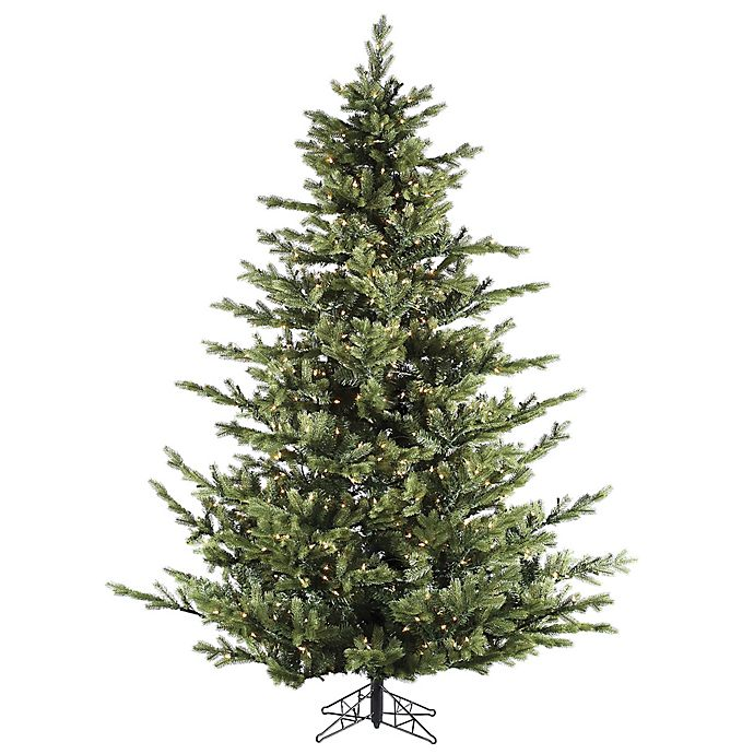 Alternate image 1 for Fraser Hill Farm 9-Foot Foxtail Pine Pre-Lit Artificial Christmas Tree with Clear Lights