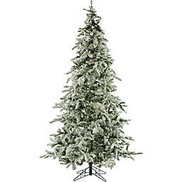 Fraser Hill Farm 9-Foot Mountain Pine Flocked Artificial Christmas Tree