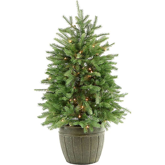 Artificial 4 Foot Christmas Trees: Fraser Hill Farm 4-Foot Pre-Lit Potted Artificial