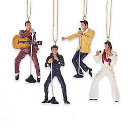 Kurt Adler 4-Piece Elvis Presley Christmas Ornament Set