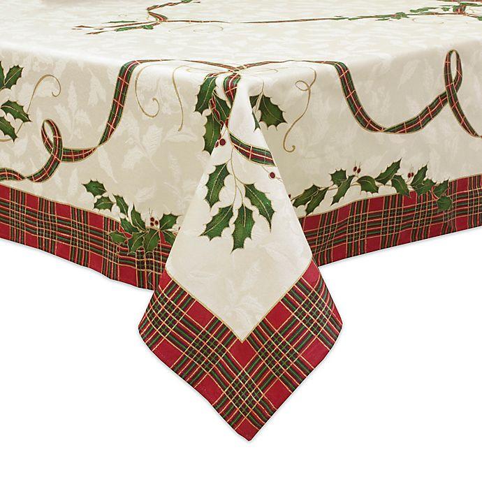 Lenox 174 Holiday Nouveau Melody Tablecloth Bed Bath Amp Beyond