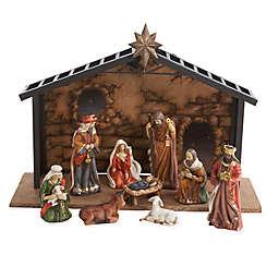 Kurt Adler 10-Piece Porcelain Nativity Set