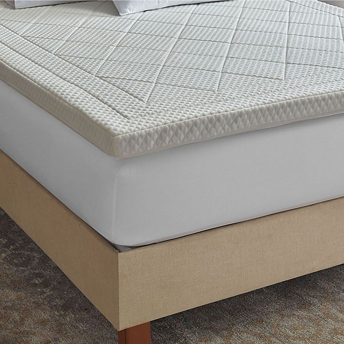 Therapedic Quilted Deluxe 3 Inch Memory Foam Bed Topper Bed Bath