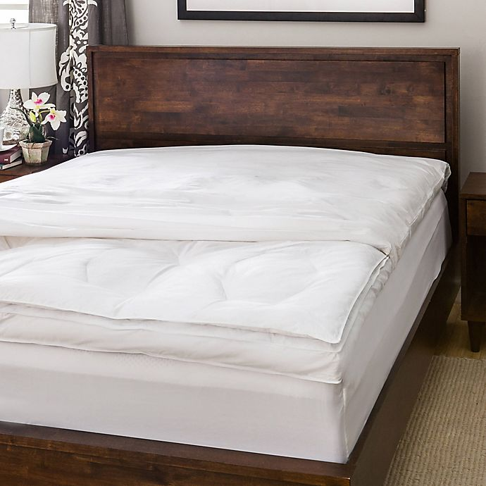 Alternate image 1 for AllergyCare 100% Cotton Twin Featherbed Cover in White