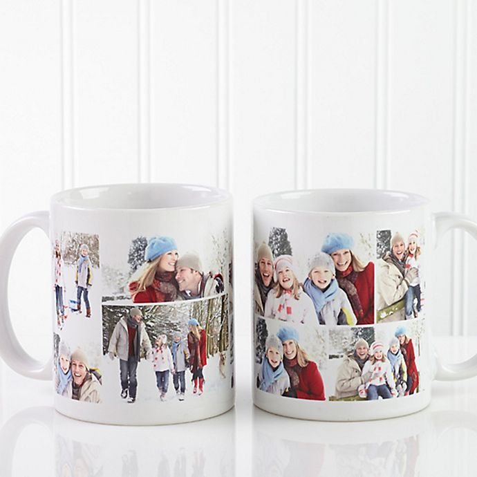 Alternate image 1 for Create a Collage 11 oz. Coffee Mug in White