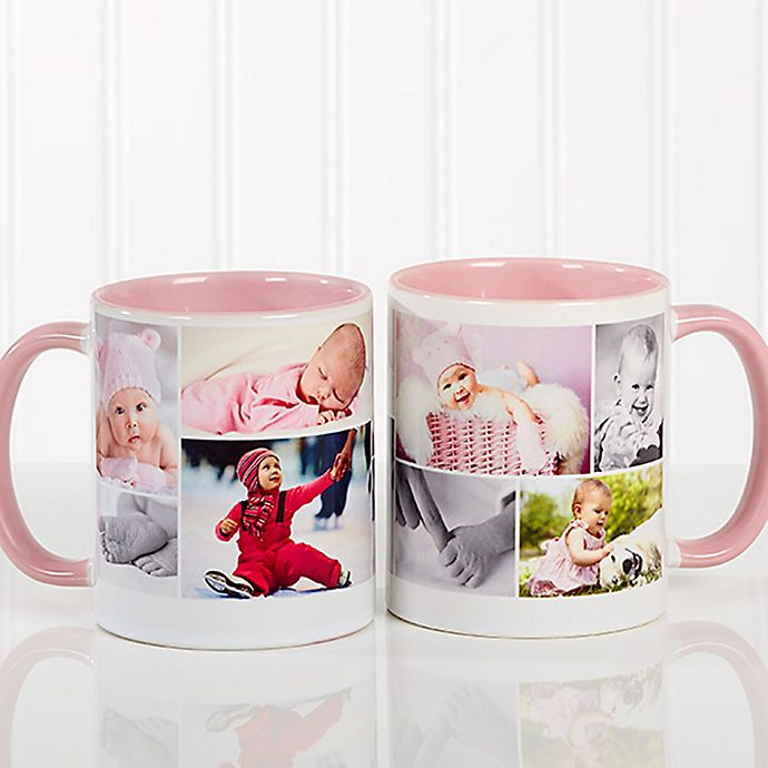 Alternate image 1 for Create a Collage 11 oz. Coffee Mug in Pink