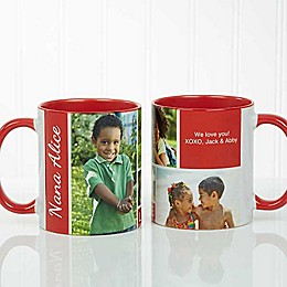 Family Love 11 oz. Photo Collage Coffee Mug in Red